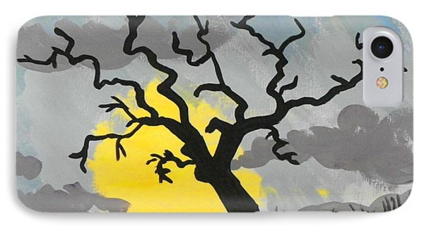 Moon Tree IPhone Case by Marisela Mungia