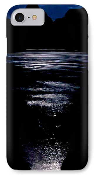 Moon Water IPhone Case by Britt Runyon