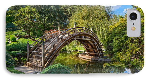 Moonbridge - The Beautifully Renovated Japanese Gardens At The Huntington Library. IPhone Case by Jamie Pham
