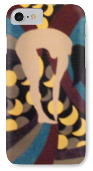 IPhone Case featuring the painting Mooned by Erika Chamberlin