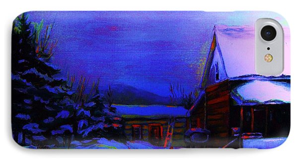 Moonglow On Powder Phone Case by Carole Spandau