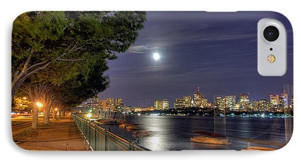 Moonglow Over Boston IPhone Case by Joann Vitali