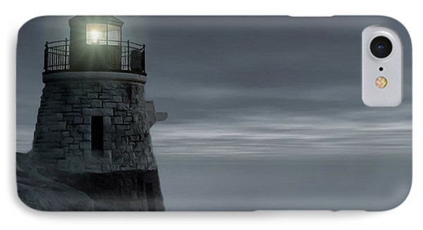 Moonlight At Castle Hill IPhone Case by Lourry Legarde
