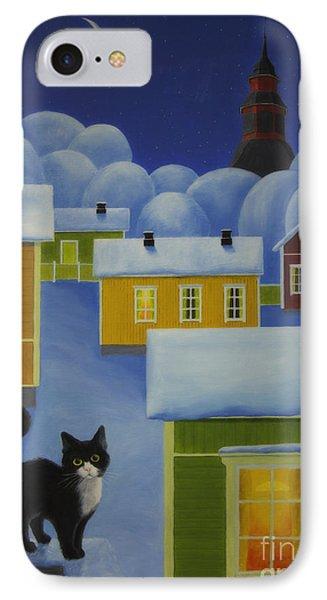 Moonlight Cat IPhone Case by Veikko Suikkanen