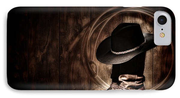 Moonlight Cowboy Phone Case by Olivier Le Queinec