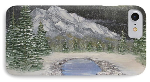 Moonlight Mountain IPhone Case by Tim Townsend