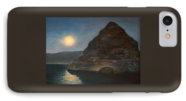 IPhone Case featuring the painting Moonlight On Pyramid Lake by Donna Tucker