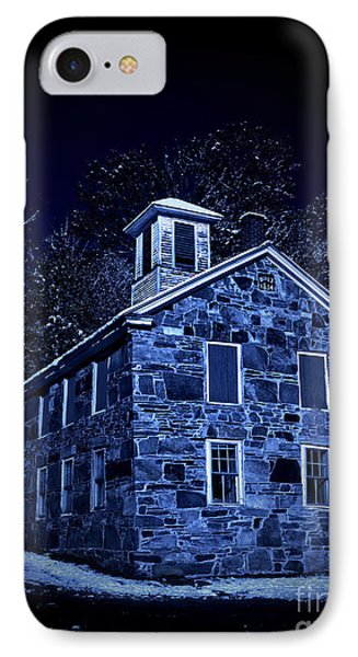 Moonlight On The Old Stone Building  IPhone Case
