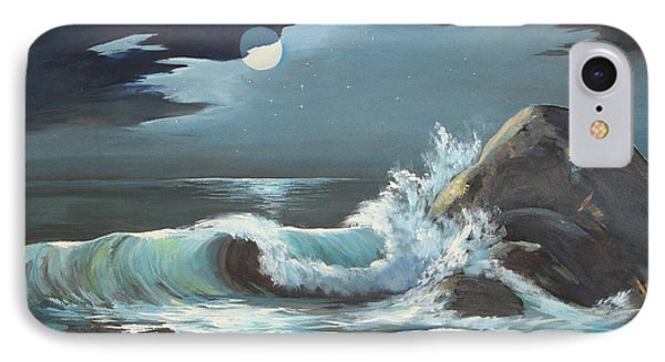 Moonlight On Waves IPhone Case