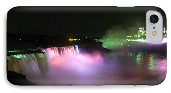 Moonlight Over A Luminous Niagara Falls N.y. Phone Case by Danielle  Parent