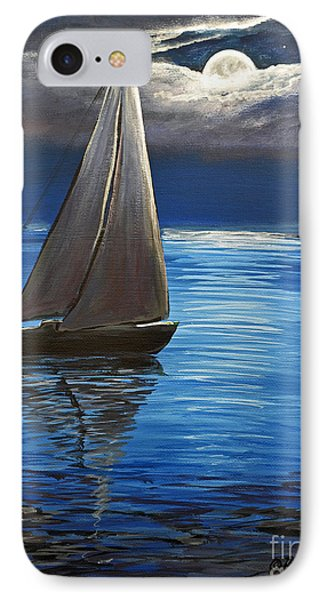 Moonlight Sailing IPhone Case by Patricia L Davidson