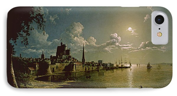 Moonlight Scene, Southampton, 1820 IPhone Case by Sebastian Pether