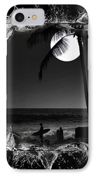 IPhone Case featuring the photograph Moonlight Surf by Athala Carole Bruckner