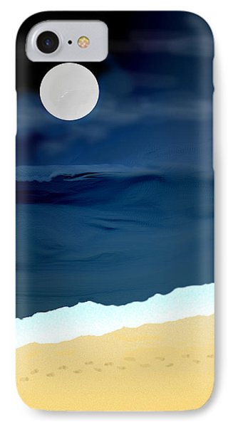 Moonlight Walk At Low Tide IPhone Case by Kae Cheatham