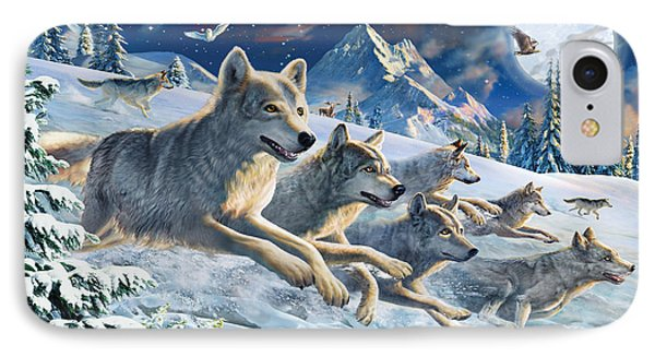 Moonlight Wolfpack Phone Case by Adrian Chesterman