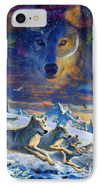 Moonlight Wolfpack Variant IIi IPhone Case by Adrian Chesterman