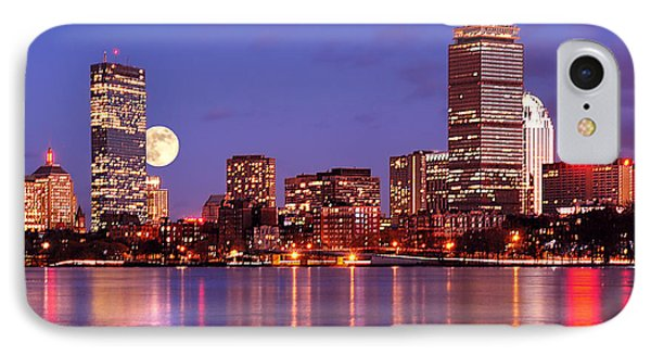 IPhone Case featuring the photograph Moonlit Boston On The Charles by Mitchell R Grosky
