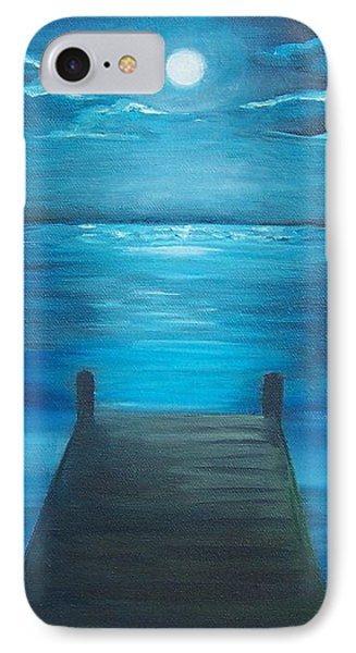 Moonlit Dock Phone Case by Linda Cabrera