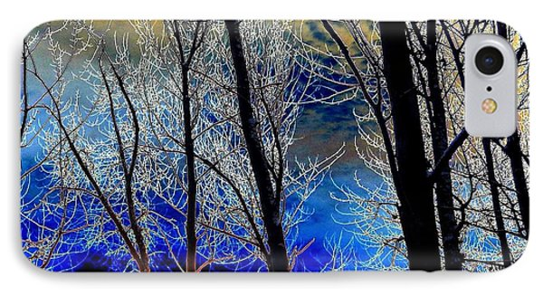 Moonlit Frosty Limbs Phone Case by Will Borden