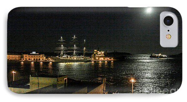 Moonlit Harbour IPhone Case