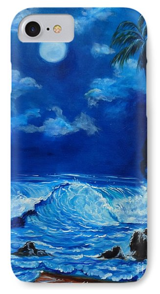 Moonlit Hawaiian Night IPhone Case by Jenny Lee
