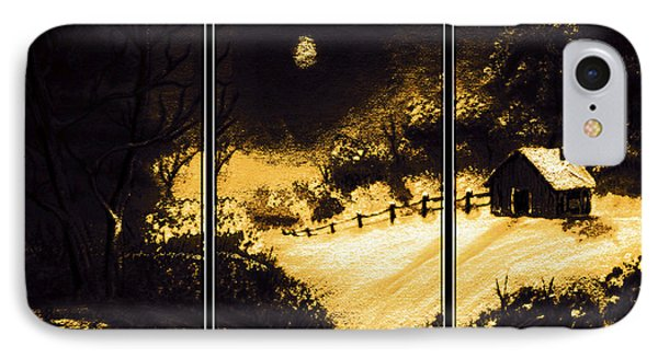 Moonlit Night Triptych Phone Case by Barbara Griffin