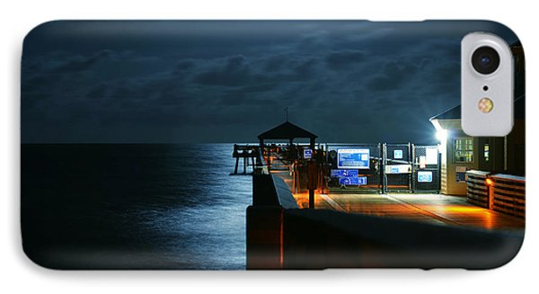 Moonlit Pier IPhone Case