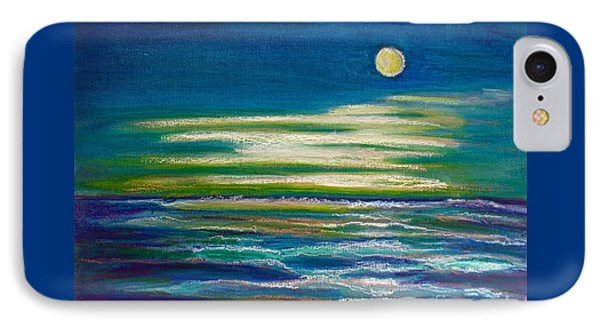IPhone Case featuring the painting Moonlit Tide by D Renee Wilson
