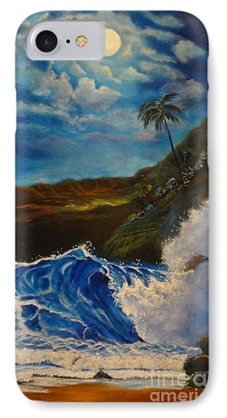 Moonlit Wave 11 IPhone Case by Jenny Lee