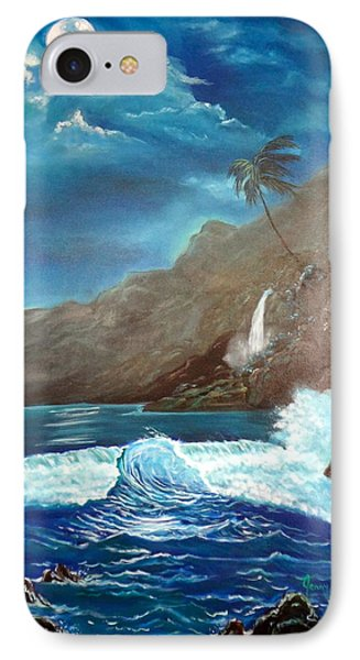 IPhone Case featuring the painting Moonlit Wave by Jenny Lee