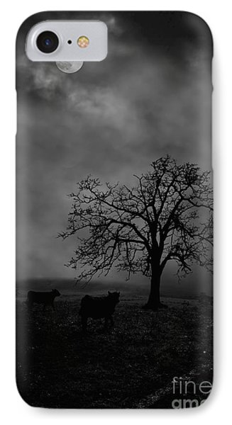 Moonlite Tree On The Farm Phone Case by Dan Friend