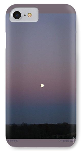 Moonrise At Sunset IPhone Case by Patricia Overmoyer