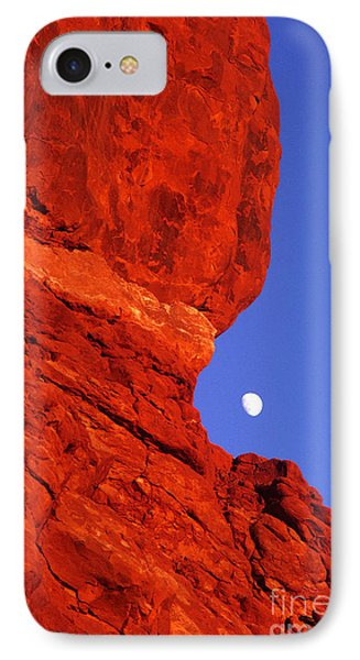 IPhone Case featuring the photograph Moonrise Balanced Rock Arches National Park Utah by Dave Welling