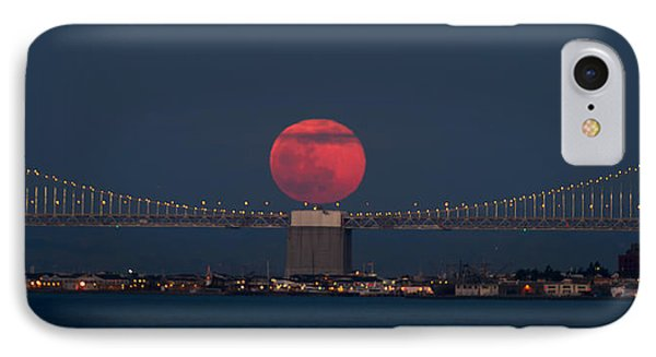 Moonrise Bay Bridge Fort Baker IPhone Case