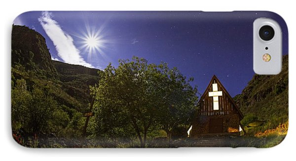 Moonrise Chapel Phone Case by Aaron Bedell