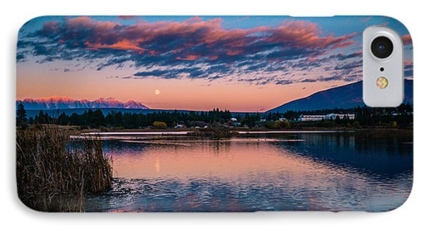 IPhone Case featuring the photograph Moonrise Cranbrook Baker Mountain by Rob Tullis