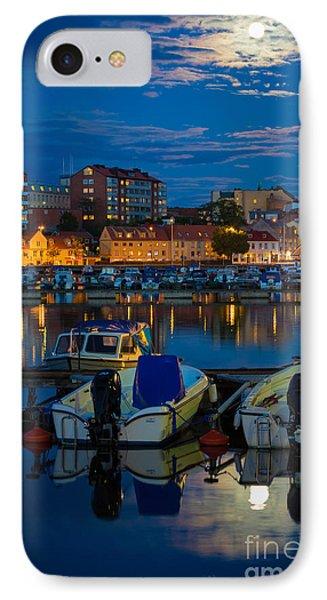 Moonrise In Karlskrona Phone Case by Inge Johnsson