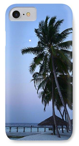 Moonrise In Maldives Phone Case by Corinne Rhode