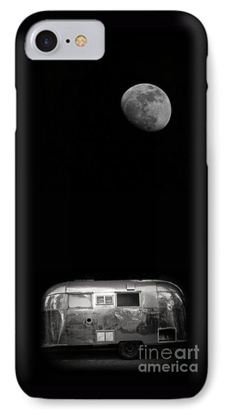 Moonrise Over Airstream IPhone Case