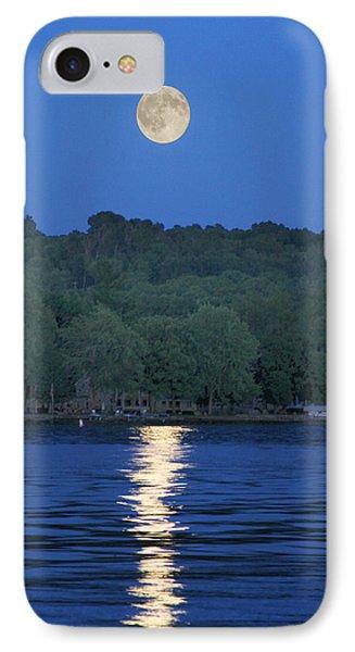 Reflections Of Luna IPhone Case by Richard Engelbrecht