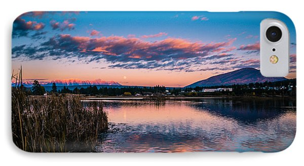 IPhone Case featuring the photograph Moonrise Over Elizabeth Lake by Rob Tullis