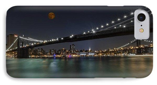 Moonrise Over Manhattan II IPhone Case by Susan Candelario