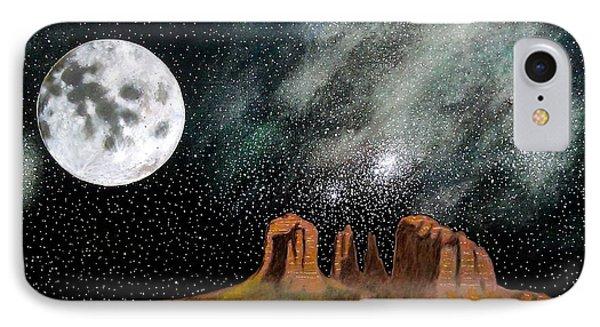 Moonrise Over Sedona Phone Case by John Lyes