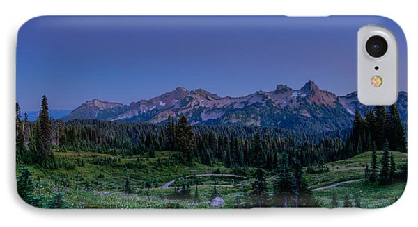 Moonrise Over Tatoosh IPhone Case by Chris McKenna