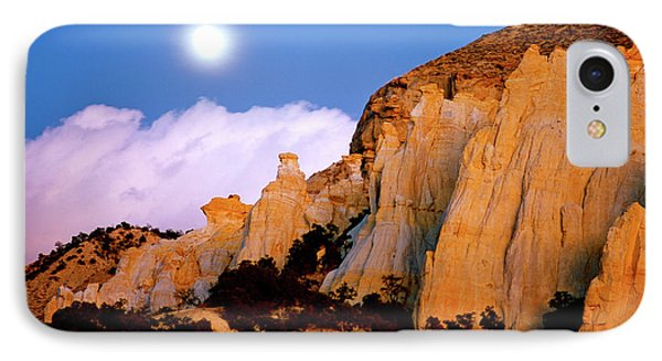 Moonrise Over The Kaiparowits Plateau Utah IPhone Case by Ed  Riche