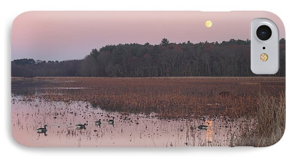 Moonrise Over Waterfowl Pond IPhone Case