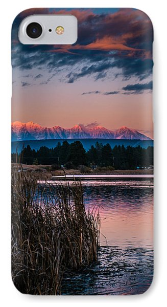Moonrise Rocky Moutains IPhone Case by Rob Tullis
