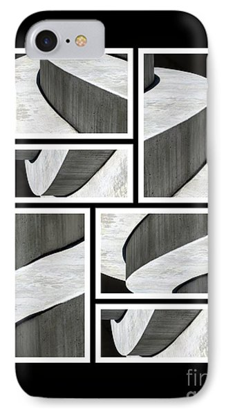 Moonscapes. Abstract Photo Collage 01 IPhone Case by Ausra Huntington nee Paulauskaite