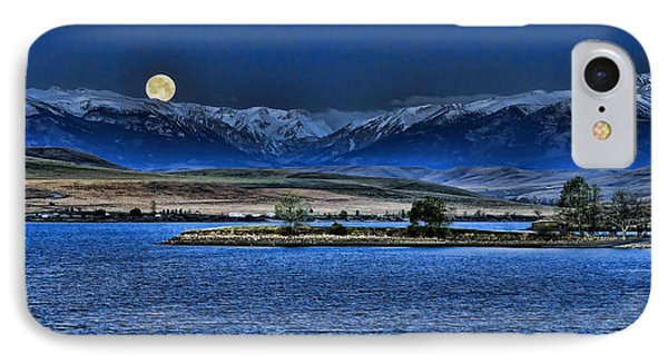 Moonset Over Cooney IPhone Case
