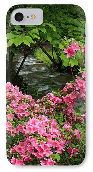 IPhone Case featuring the photograph Moonshine Creek Rhododendron Bloom - North Carolina by Mountains to the Sea Photo